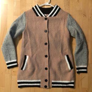 Varsity button up sweater